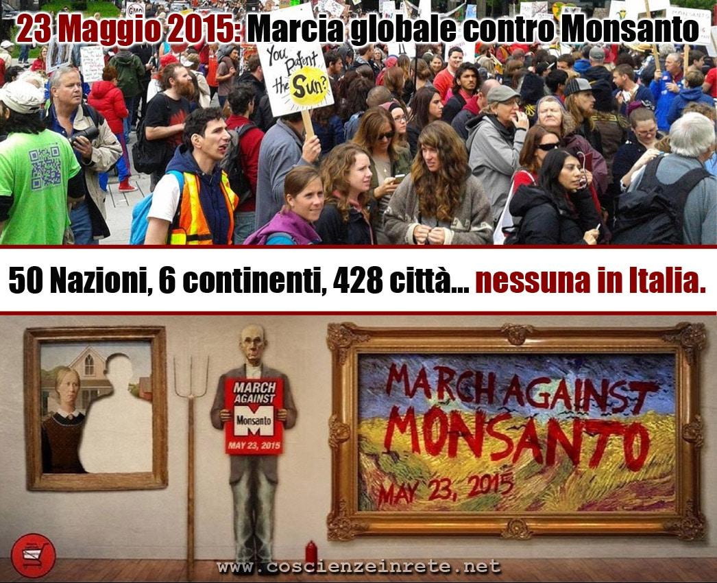 OGM, il prossimo 23 Maggio si terrà in tutto il mondo la marcia globale contro Monsanto, ma l'Italia non parteciperà
