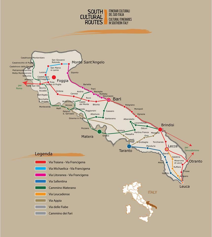 Puglia: nasce il comitato regionale dei cammini e itinerari turistici