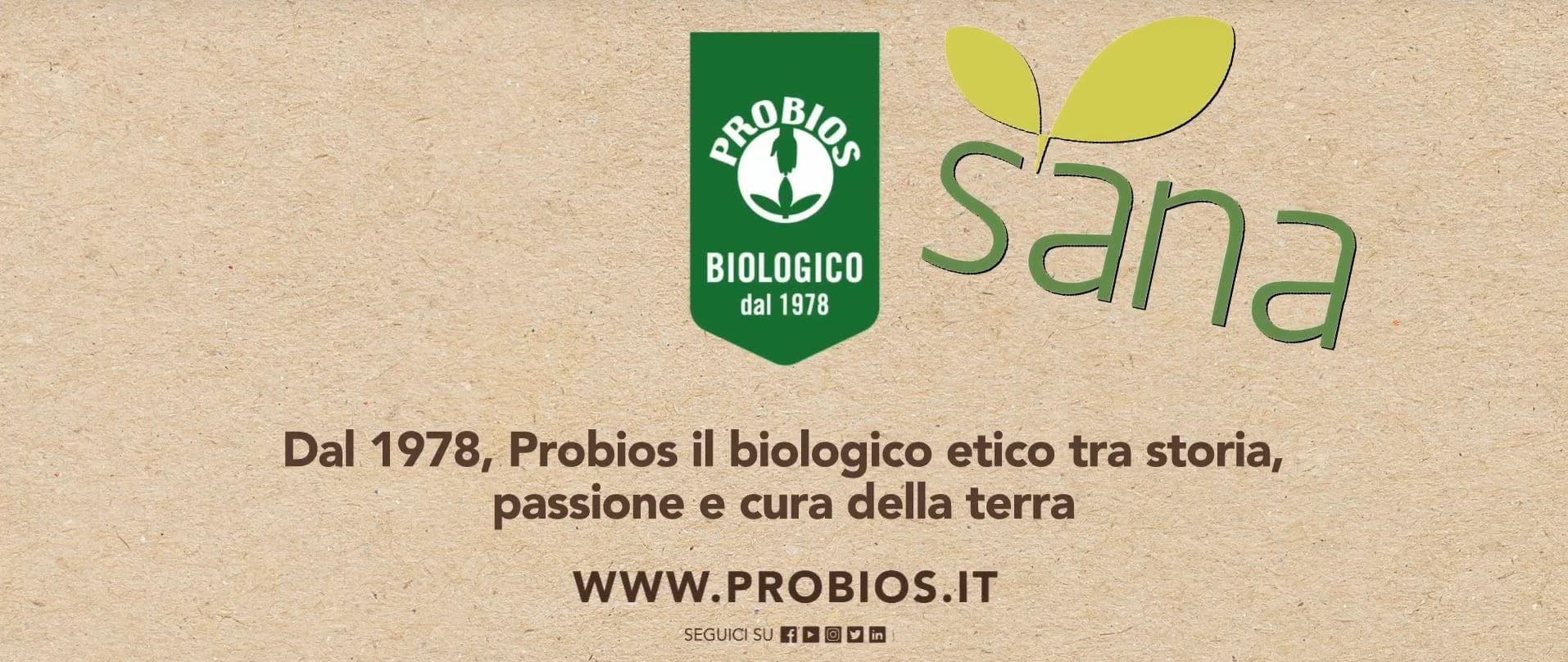 Il gusto autentico del biologico Probios in mostra a SANA 2019