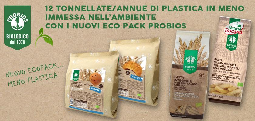 I prodotti Probios con un'anima più green grazie ai nuovi ecopack