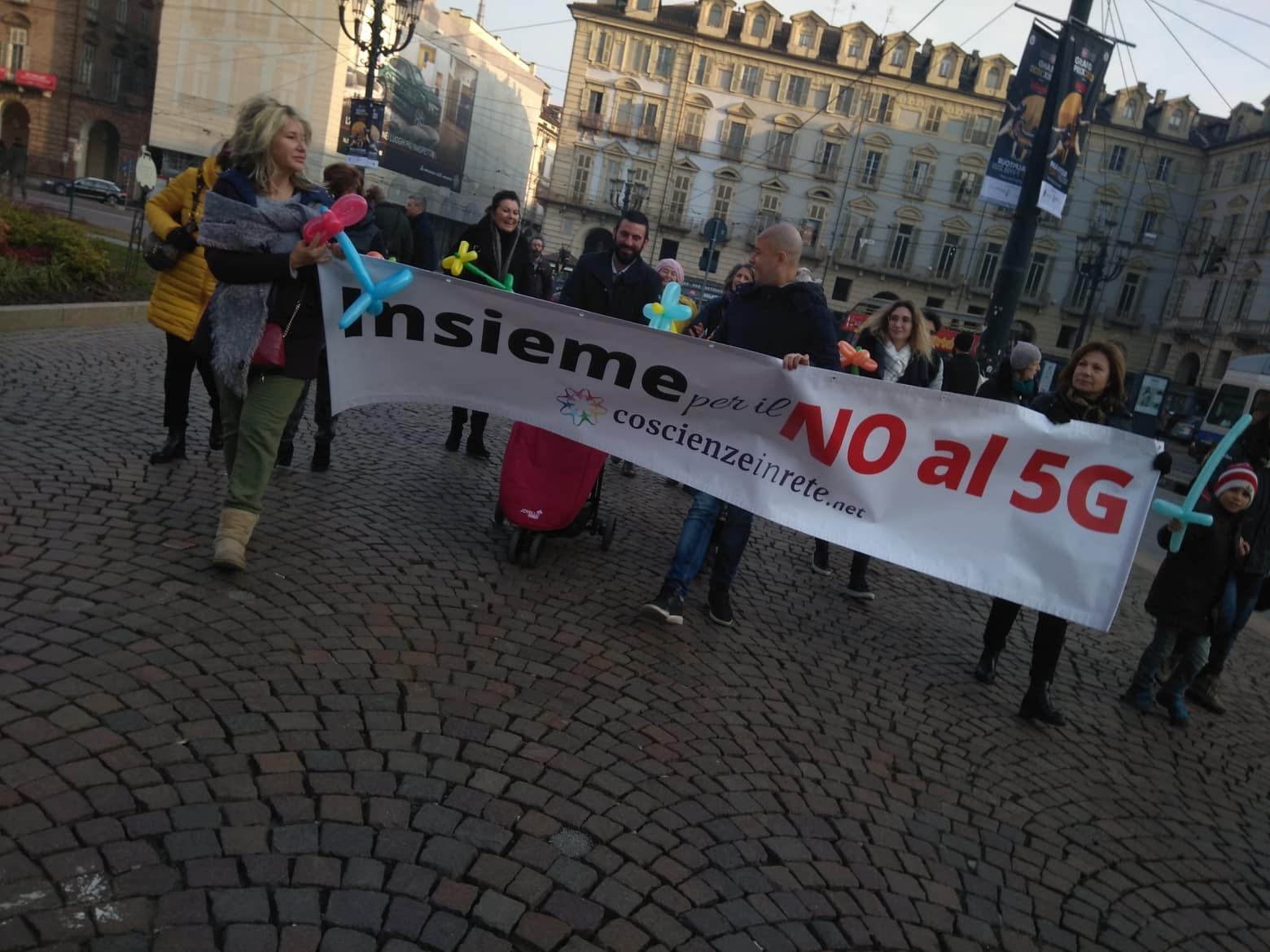 Manifestazione no5g NO5G Torino . 25/1/2020