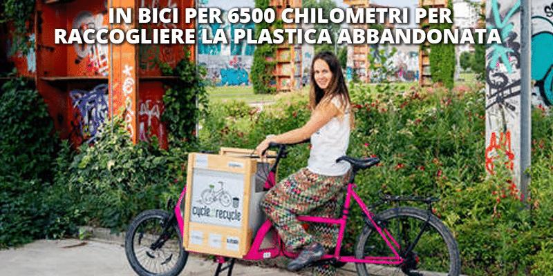 In bici per 6500 chilometri per raccogliere la plastica abbandonata e fondi per il Banco Alimentare