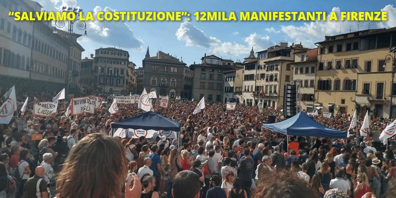 """Manifestazione """"Salviamo la Costituzione"""", 12mila a Firenze"""