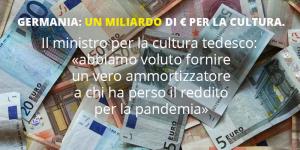 Un miliardo di € per la cultura