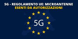 5G-UE microantenne esenti da autorizzazioni