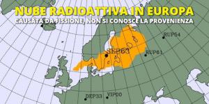 nube radioattiva europa
